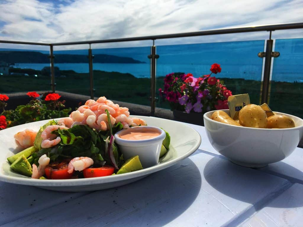 Bay View Inn Prawn and Avocado Salad