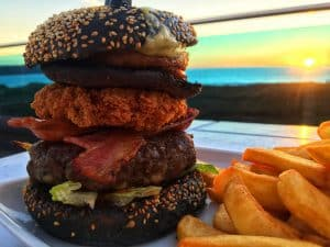 The Wipe Out Surfer-themed Burger